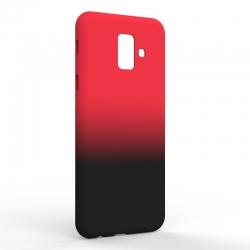 Чехол-накладка Samsung A6 2018 Gradient Red-Black