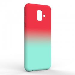Чехол-накладка Samsung A6 2018 Gradient Red-Blue