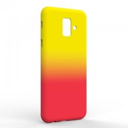 Чехол-накладка Samsung A6 2018 Gradient Yellow-Red