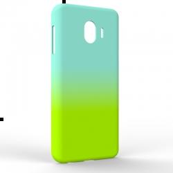 Чехол-накладка Samsung J4 2018 Gradient Blue-Green