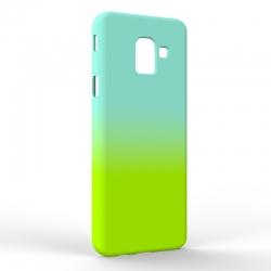 Чехол-накладка Samsung J6 J600 Gradient Blue-Green