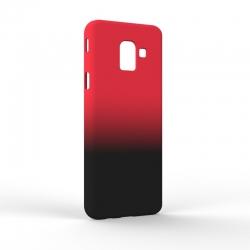 Чехол-накладка Samsung J6 J600 Gradient Red-Black