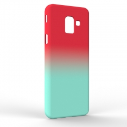 Чехол-накладка Samsung J6 J600 Gradient Red-Blue