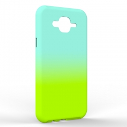 Чехол-накладка Samsung J7 NEO Gradient Blue-Green