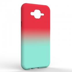 Чехол-накладка Samsung J7 NEO Gradient Red-Blue