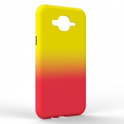 Чехол-накладка Samsung J7 NEO Gradient Yellow-Red