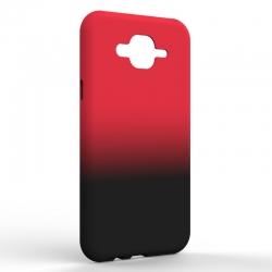 Чехол-накладка Samsung J7 NEO Gradient Red-Black