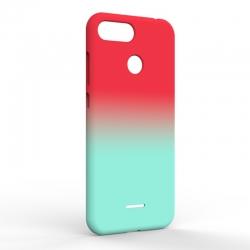 Чехол-накладка Xiaomi Redmi 6A Gradient Red-Blue