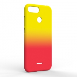 Чехол-накладка Xiaomi Redmi 6A Gradient Yellow-Red