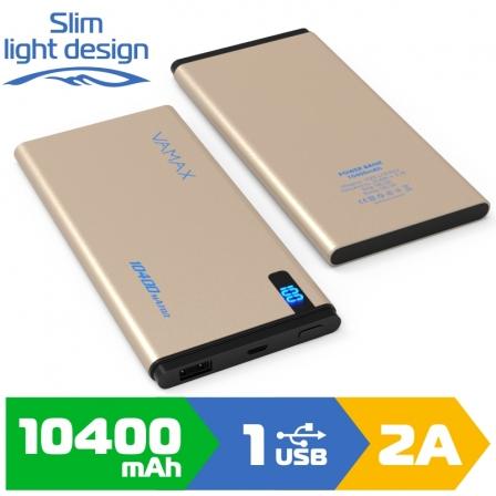 Зовнішній акумулятор VAMAX 10400mAh VMX-1822 Gold