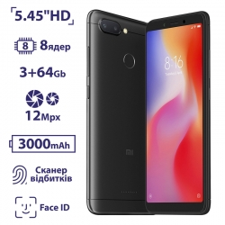 Xiaomi Redmi 6 3/64GB Black