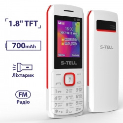 S-TELL S1-08 (2018) White Red