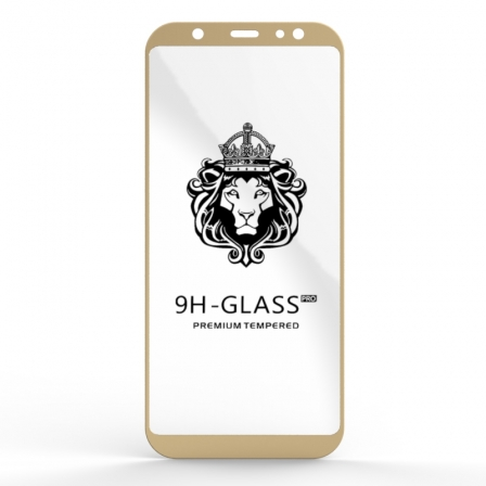 Захисне скло Glass 9H Samsung Galaxy A6 Plus Gold