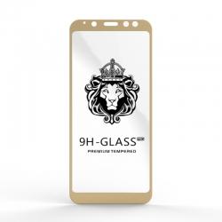 Захисне скло Glass 9H Samsung Galaxy A8 2018 Gold