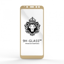 Защитное стекло Glass 9H Samsung Galaxy A8 2018 Gold