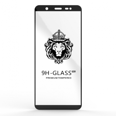 Захисне скло Glass 9H Samsung Galaxy J8 J810 Black