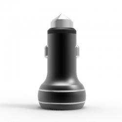 Автомобільний зарядний пристрій Metal NLO 2.4A Black