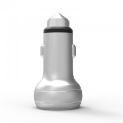 Автомобільний зарядний пристрій Metal NLO 2.4A White