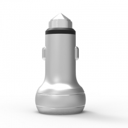 Автомобильное зарядное устройство Metal NLO 2.4A White